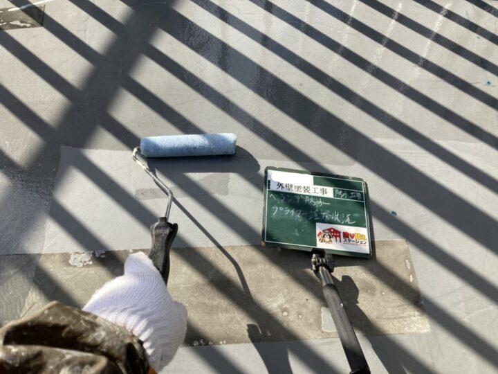 ベランダ防水 プライマー塗布