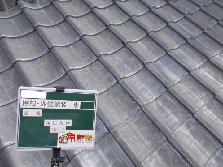 屋根 高圧洗浄 完了