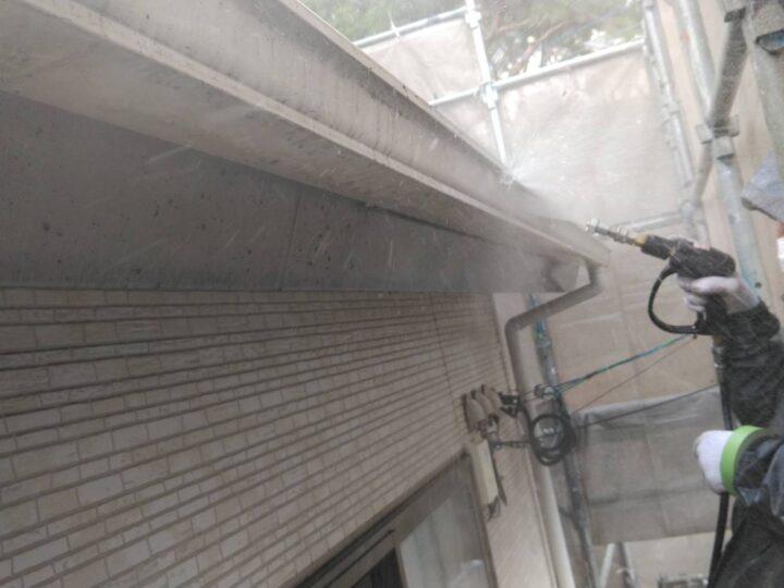 破風板 高圧洗浄