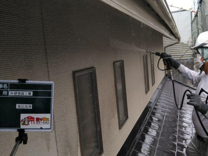 雨樋 高圧洗浄