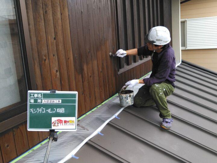 木部塗装2階 キシラデコール 2回目