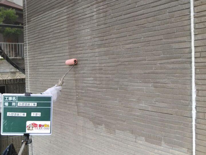 外壁① 下塗り